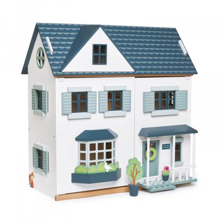 Casuta de papusi din lemn premium, cu etaj, 6 camere5