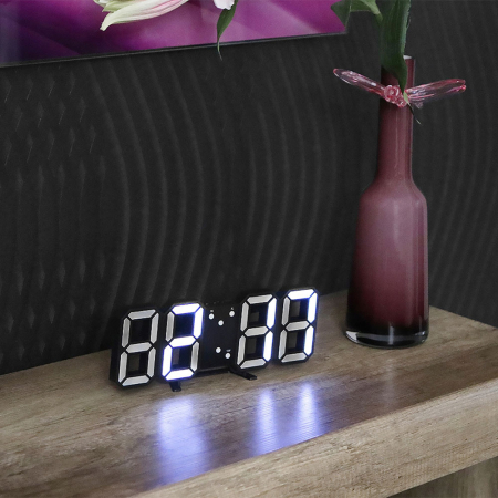 Ceas de perete digital cu termometru si data2