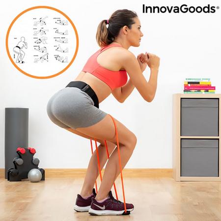 Centura cu benzi de rezistenta pentru fitness, ghid exercitii fizice0