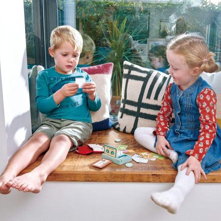 Cititor de carduri jucarie din lemn premium, 21 piese1