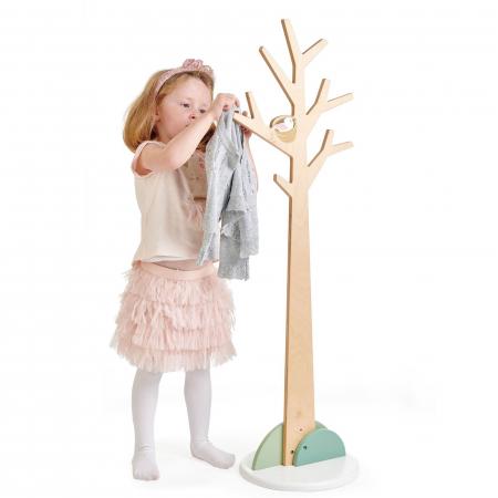 Cuier haine dormitor copii, lemn premium, Copacul din Padure1