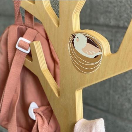 Cuier haine dormitor copii, lemn premium, Copacul din Padure0