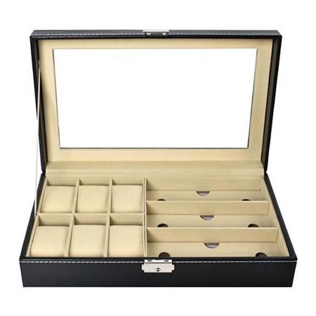 Cutie ceasuri, bijuterii si ochelari, cheita inclusa1