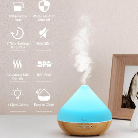 Difuzor aromaterapie AJ-AD001, 300ml, LED 7 culori3