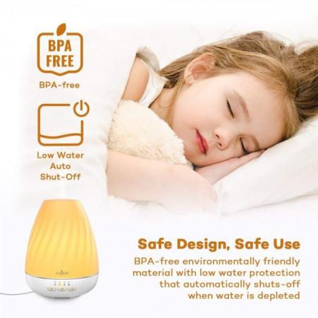 Difuzor aromaterapie Anjou ADA003, 200ml, LED 7 culori4