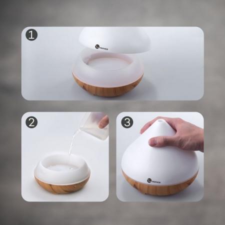 Difuzor aromaterapie uleiuri esentiale cu Ultrasunete TaoTronics, LED 7 culori5
