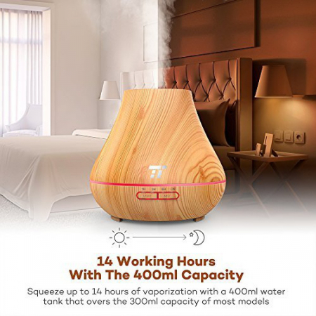 Difuzor Aromaterapie TaoTronics TT-AD004, 400ml, LED, 7 culori3