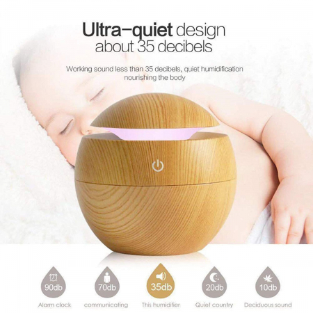 Difuzor Aromaterapie uleiuri esentiale sfera 7 culori, 130 ml4