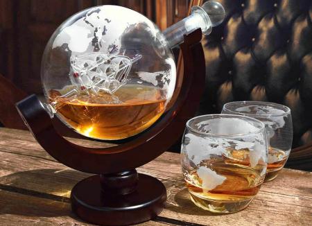 Dozator de bauturi Globe cu doua pahare0