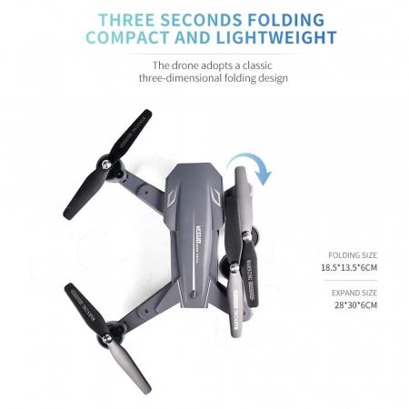 Drona Visuo XS816, Camera 4K cu transmisie pe telefon4