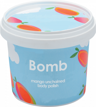 Exfoliant corp particule fine Mango Unchained Bomb Cosmetics1