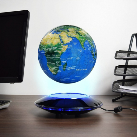 Glob pamantesc magnetic plutitor cu iluminare LED XXL0