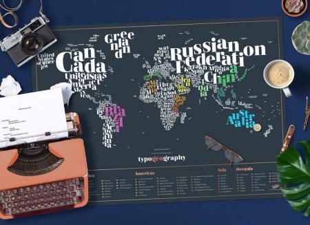 Harta razuibila Typogeography - Originala Luckies0