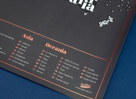 Harta razuibila Typogeography - Originala Luckies3