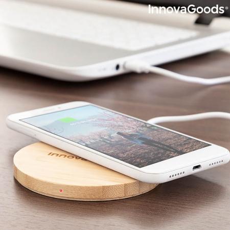 Incarcator wireless din bambus [2]