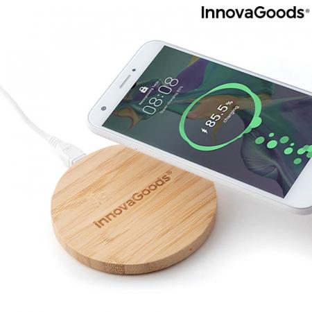 Incarcator wireless din bambus [5]