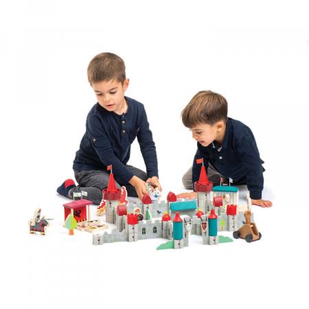 Joc de construit Castelul Royal, lemn premium, 100 piese4