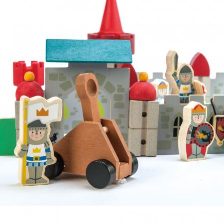 Joc de construit Castelul Royal, lemn premium, 100 piese1