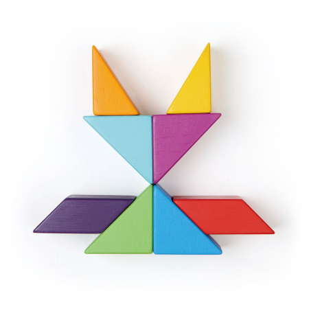 Joc magnetic din lemn Designer Coloristica, 8 piese12