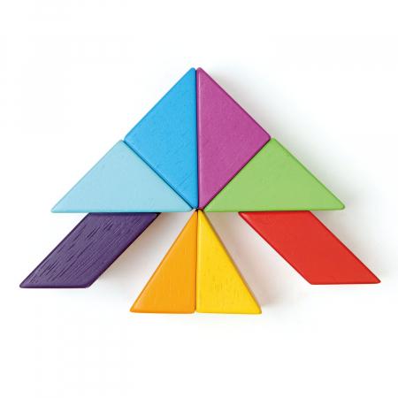 Joc magnetic din lemn Designer Coloristica, 8 piese7