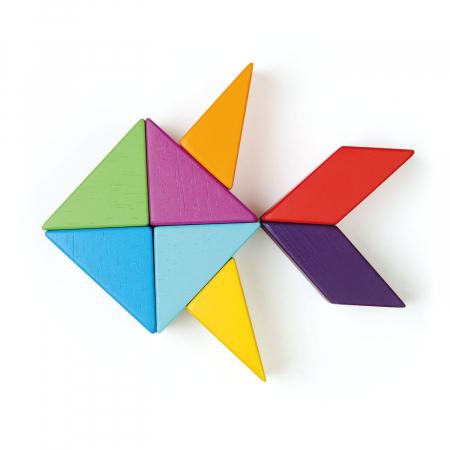 Joc magnetic din lemn Designer Coloristica, 8 piese6