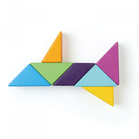 Joc magnetic din lemn Designer Coloristica, 8 piese9