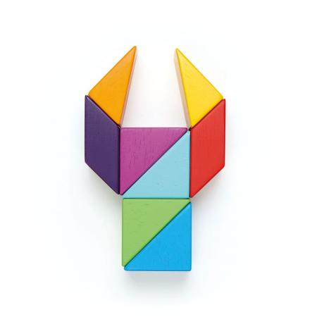 Joc magnetic din lemn Designer Coloristica, 8 piese4
