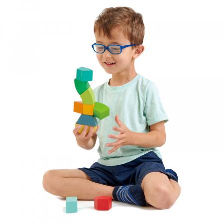 Joc magnetic din lemn Primary Magblocs, 10 piese0