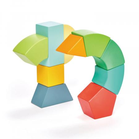 Joc magnetic din lemn Primary Magblocs, 10 piese1