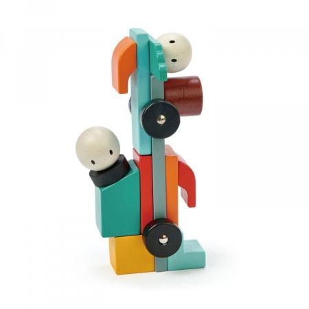 Joc magnetic din lemn Racing, 14 piese8