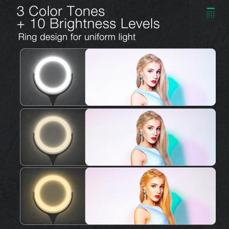 Lampa LED Make-up Profesionala BlitzWof BW-SL4, 64 leduri cu lumina rece/ calda3