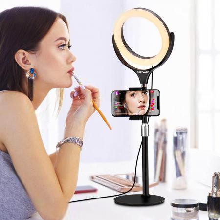 Lampa LED Make-up Profesionala BlitzWof BW-SL4, 64 leduri cu lumina rece/ calda [0]