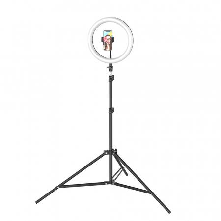 Lampa led makeup profesionala, Ring Light cu 120 leduri lumina rece si calda10