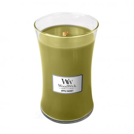 Lumanare parfumata Woodwick apple basket Borcan mare1