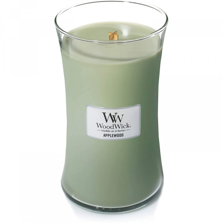 Lumanare parfumata Woodwick applewood Borcan mare1