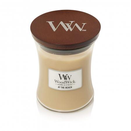 Lumanare parfumata Woodwick at the beach Borcan mediu2
