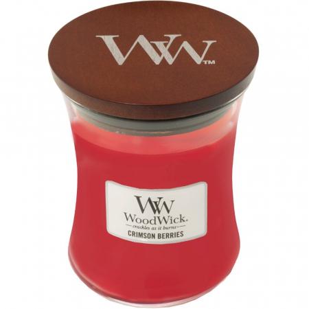 Lumanare parfumata Woodwick crimson berries Borcan mediu2
