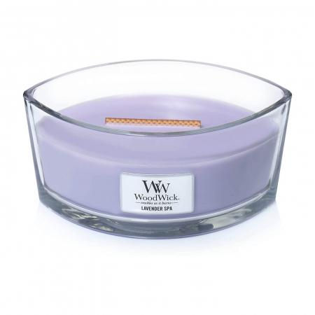 Lumanare parfumata Woodwick ellipse lavender spa1