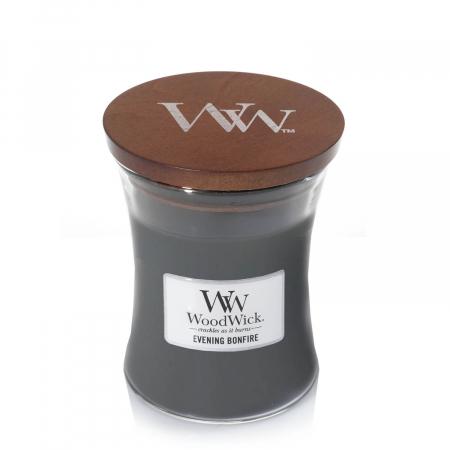 Lumanare parfumata Woodwick evening bonfire Borcan mediu2