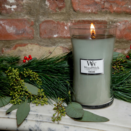 Lumanare parfumata Woodwick fireside Borcan mare2
