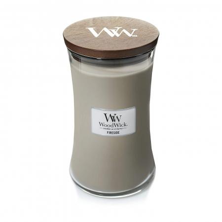 Lumanare parfumata Woodwick fireside Borcan mare5
