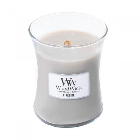 Lumanare parfumata Woodwick fireside Borcan mediu1