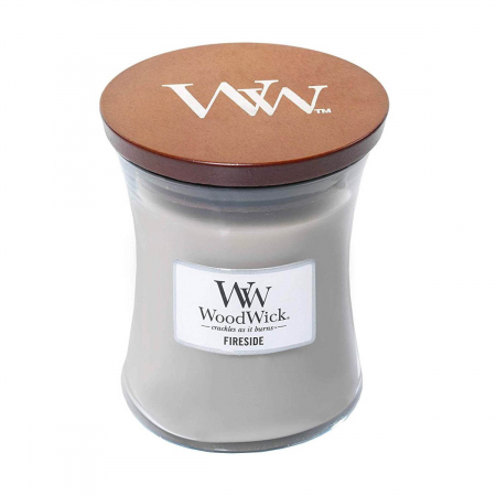 Lumanare parfumata Woodwick fireside Borcan mediu2