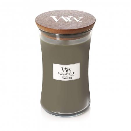 Lumanare parfumata Woodwick frasier fir Borcan mare2