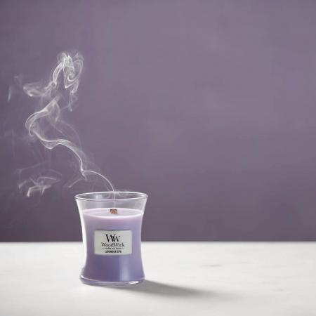 Lumanare parfumata Woodwick lavander spa Borcan mediu0
