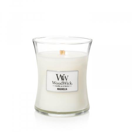 Lumanare parfumata Woodwick magnolia Borcan mediu1