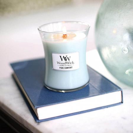 Lumanare parfumata Woodwick pure comfort borcan mediu0
