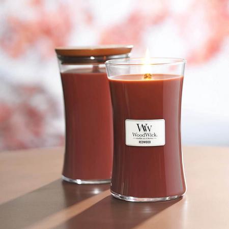 Lumanare parfumata Woodwick redwood Borcan mare0
