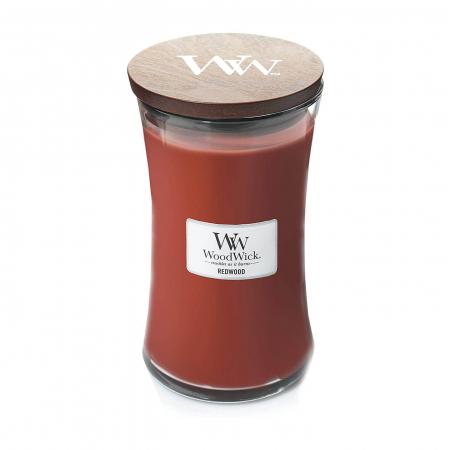 Lumanare parfumata Woodwick redwood Borcan mare2