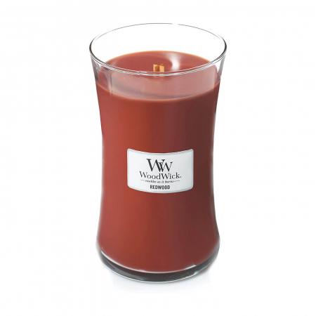Lumanare parfumata Woodwick redwood Borcan mare1